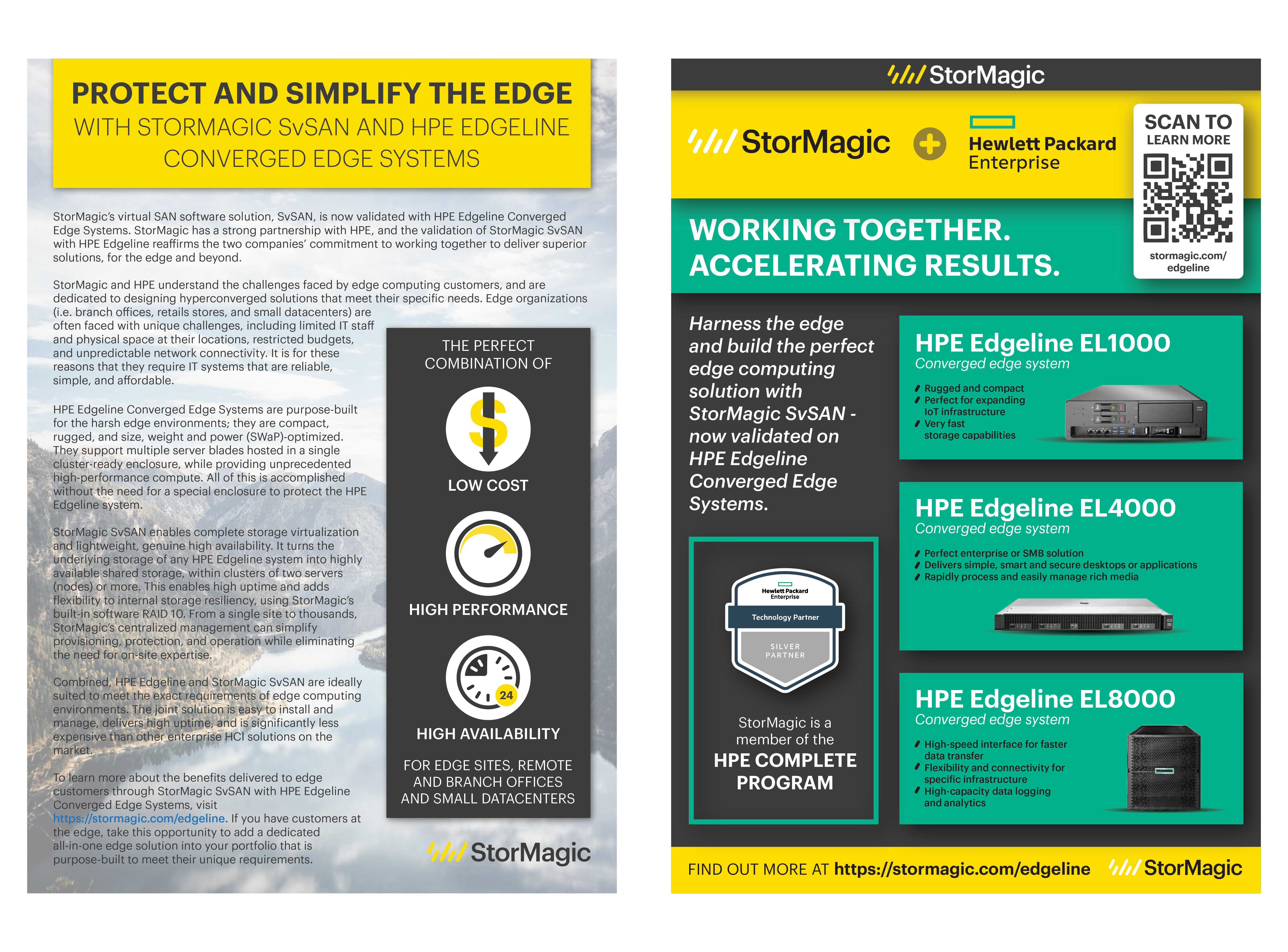 PROTECT AND SIMPLIFY THE EDGE WITH STORMAGIC SvSAN AND HPE EDGELINE CONVERGED EDGE SYSTEMS