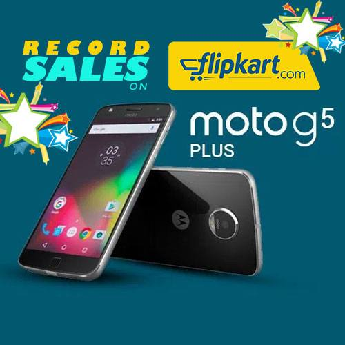 Record sales for The Moto G5 Plus at Flipkart