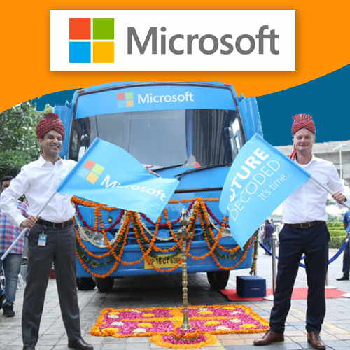 Microsoft Bus fitted with technologies for SMBs come to Mumbai