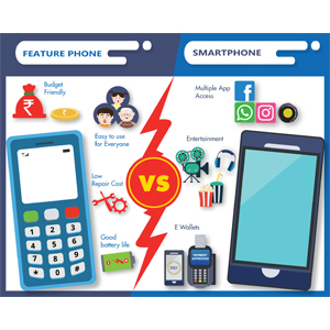 Feature phones competing neck to neck with Smartphones