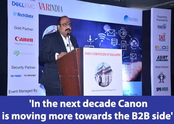 Devan Sarma, Assistant Director, Regional Business Head -West- Canon India at 8th WIITF 2018