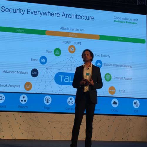 Security is running across the core fabrics of Cisco
