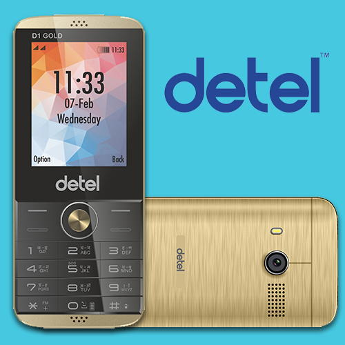 Detel launches D1 Gold Phone only at Rs.999