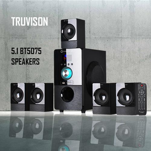 "Truvison comes up with ""5.1 BT5075"" speakers worth Rs.5,999"