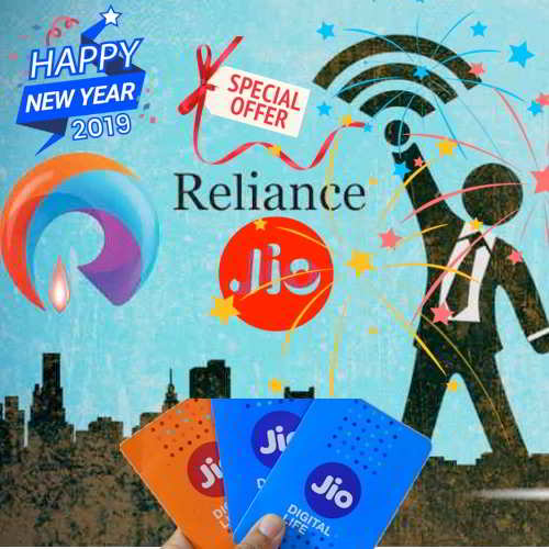 Good news for Jio users ! Happy New Year Offer with 100% cashback on this  recharge ef49fc866d