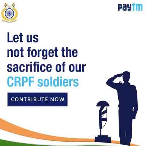 Paytm gathers Rs 47 Crores fund to contribute for CRPF Bravehearts