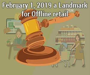 February 1, 2019 a Landmark  for Offline retail