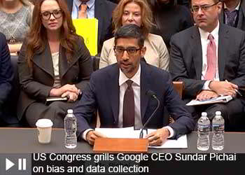 Google CEO Grilled by Congress on the Data and Privacy Policy