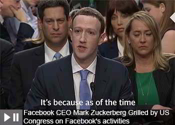 Facebook CEO Mark Zuckerberg Grilled by US Congress on Facebook's activities