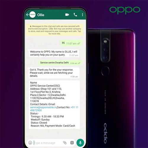 VARINDIA OPPO unveils AI smart chatbot Ollie for its customers