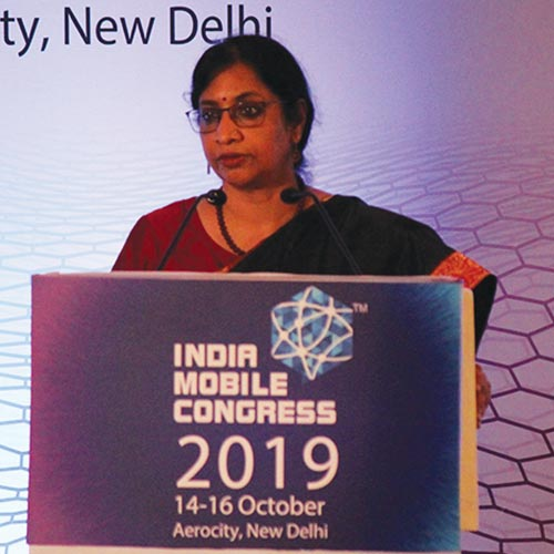 Aruna Sundararajan, Chairperson, DCC and Secretary (T), DoT, Ministry of Communications, Government of India