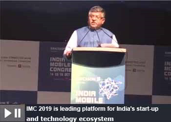 Ravi Shankar Prasad, Minister of Law, Communications, Electronics & IT at India Mobile Congress 2019