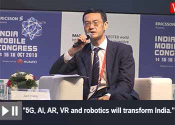 Jay Chen, CEO, Huawei India at India Mobile Congress 2019