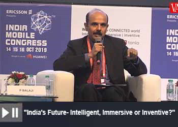 P Balaji, Chief Regulatory and Corporate Affairs Officer, Vodafone India Limited at India Mobile Congress 2019