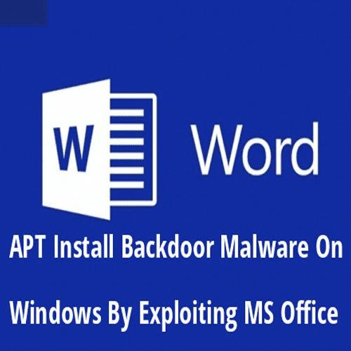 A Hacking Group Using Metasploit To Install Backdoor Malware On Windows By Exploiting MS Office