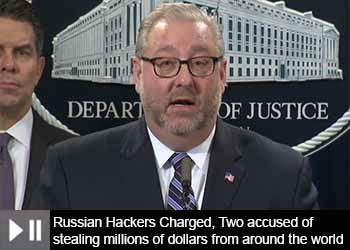Russian hackers charged in cybercrime operation