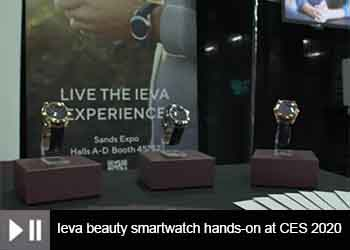 Ieva beauty smartwatch hands-on at CES 2020