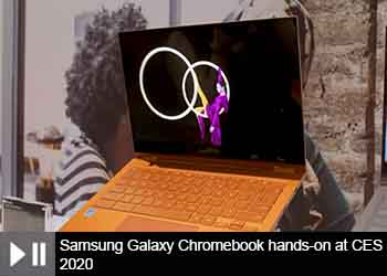 Samsung Galaxy Chromebook hands-on at CES 2020