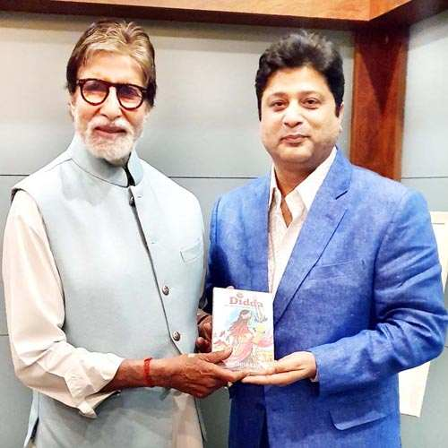 "Amitabh Bachchan unveils Ashish Kaul's book ""Didda – The Warrior Queen of Kashmir"""