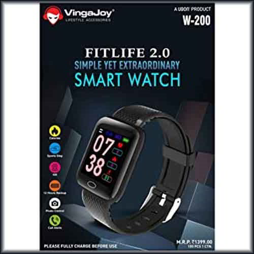 VingaJoy introduces FitLife 2.0 W-200 fitness band priced at Rs 1,399