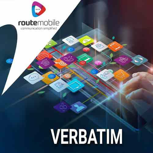 "Route Mobile brings ""Verbatim"" simplifying compliance process for banking, financial institutions & enterprises"