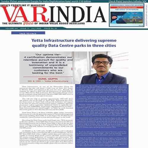 Yotta Infrastructure delivering supreme quality Data Centre parks in three cities