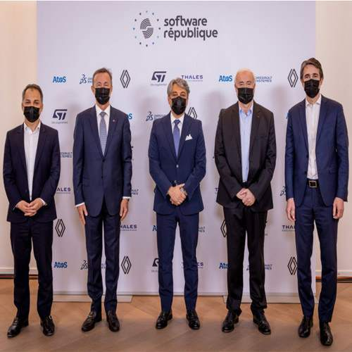 Atos, Dassault Systèmes, Groupe Renault, STMicroelectronics and Thales join hands to create the 'Software République'